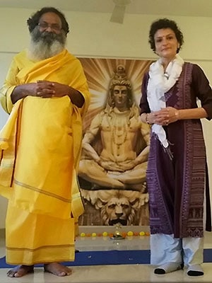 Feeling blessed in divine presence of Swami Haridass ??